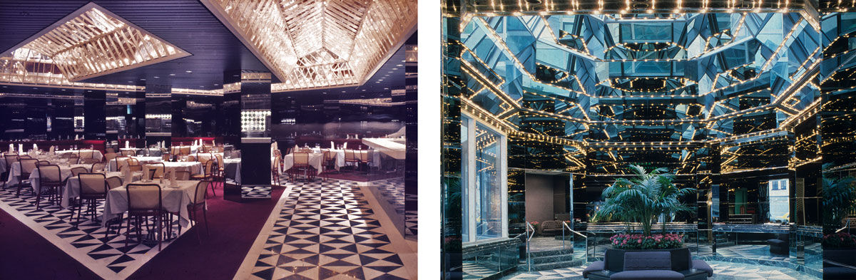 Left: Interior view of the Ambassador Grill and Lounge; Right: Interior view of the UN Plaza Hotel lobby. Photos courtesy of Kevin Roche John Dinkleloo and Associations.