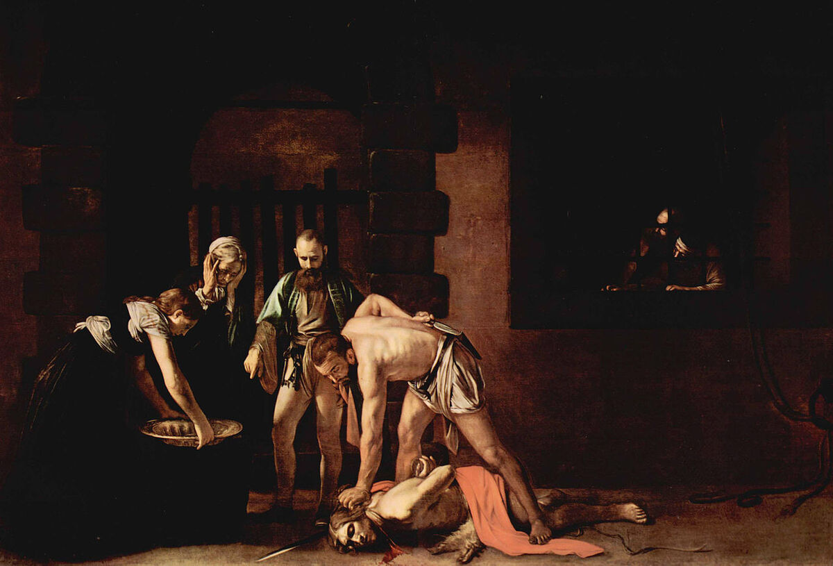 Caravaggio, The Beheading of St. John the Baptist, 1608. Image via Wikimedia Commons.