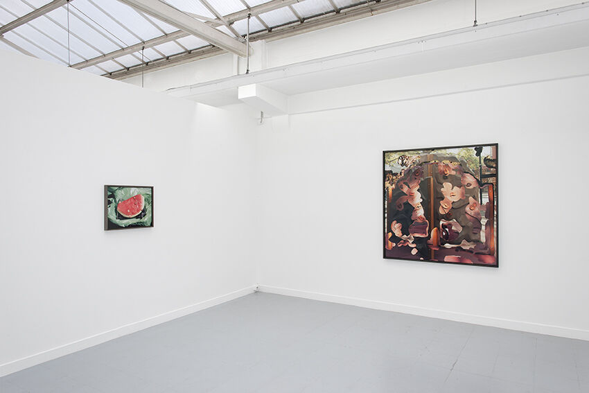 "Installation view of Lucas Blalock, ""A Farmer's Knowledge,"" courtesy of Galerie Rodolphe Janssen"