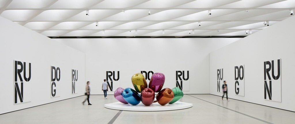 """Works by Christopher Wool & Jeff Koons in""""The Inaugural Installation"""" at The Broad"""