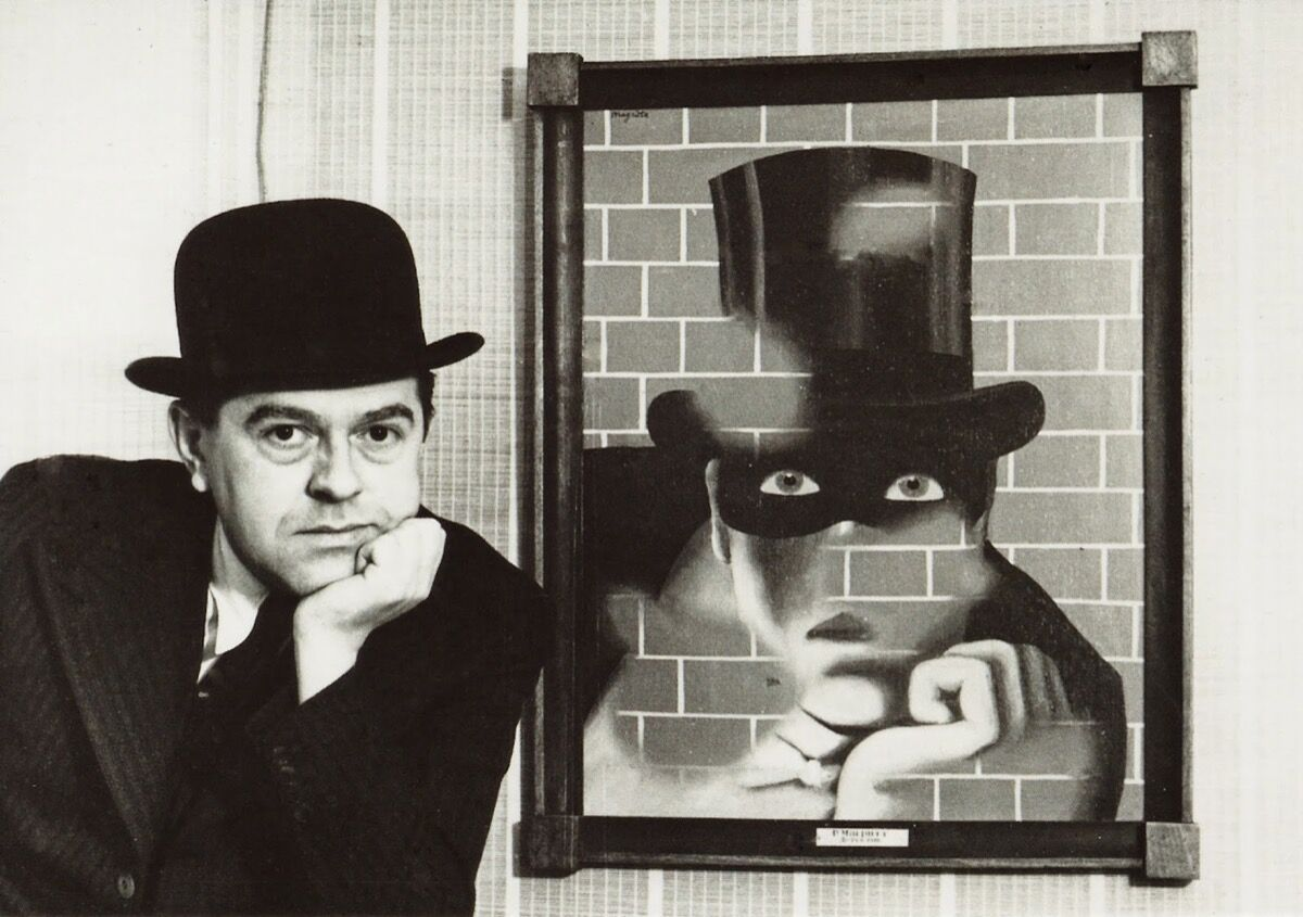 René Magritte and Le Barbare, 1938. Photo by Fine Art Images/Heritage Images/Getty Images.