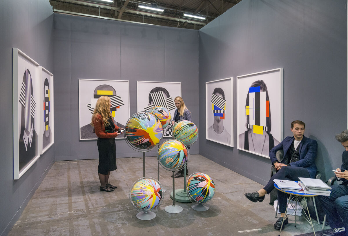 Installation view of Daniel Faria Gallery's booth at The Armory Show, 2016. Photo by Adam Reich for Artsy.