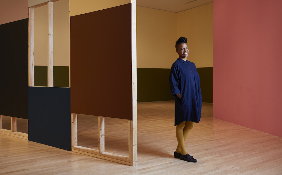 Kapwani Kiwanga in her installation at the National Gallery of Canada. Photo by miv photography, courtesy National Gallery of Canada.