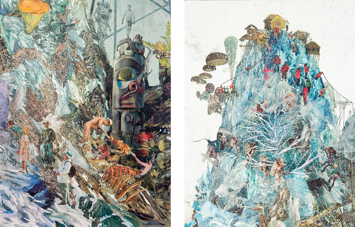 Details of Dustin Yellin, 10 Parts, 2015. Images courtesy of GRIMM and the artist.