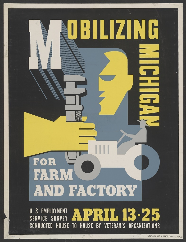 Poster by Maurice Merlin, 1943. Image via Library of Congress on Flickr.