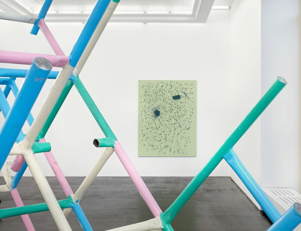 """Installation view, """"Muscle Memory: Donna Huanca & Przemek Pyszczek"""" at Peres Projects, Berlin. Courtesy Peres Projects."""