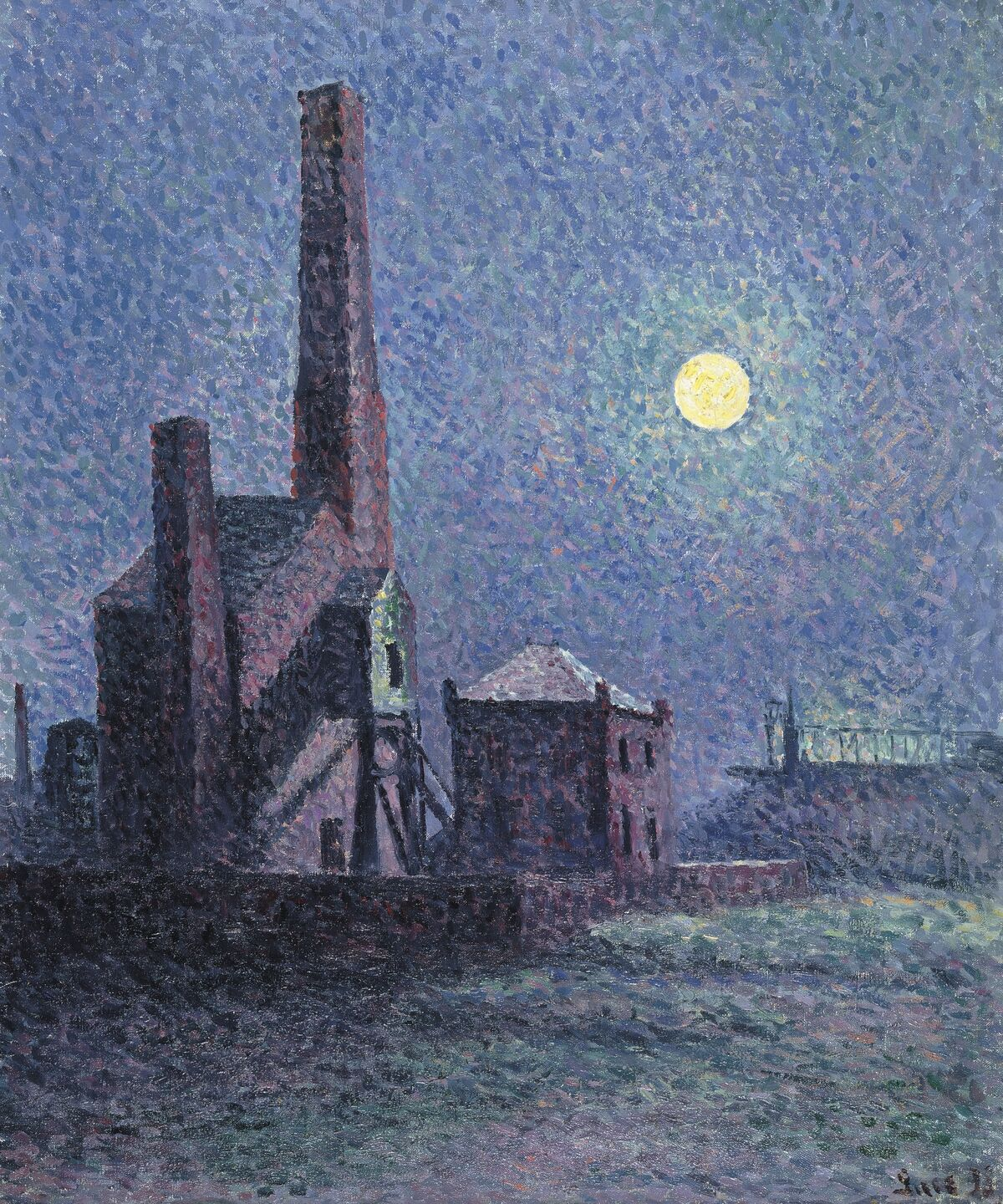 Maximilien Luce, Factory in the Moonlight, 1898. Courtesy of the Art Gallery of Ontario.