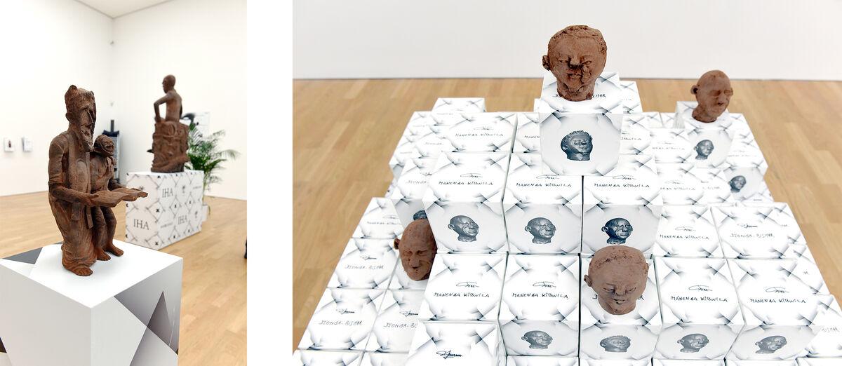 "Installation view of ""Cercle d'Art des Travailleurs de Plantation Congolaise."" Courtesy of Middlesbrough Institute of Modern Art."