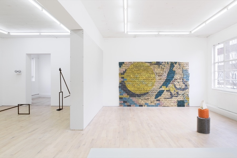 Installation view of Condo at The Sunday Painter, London. Photo courtesy of the artists; Jaqueline Martins, São Paulo; Koppe Astner, Glasgow; Seventeen, London; and The Sunday Painter, London.