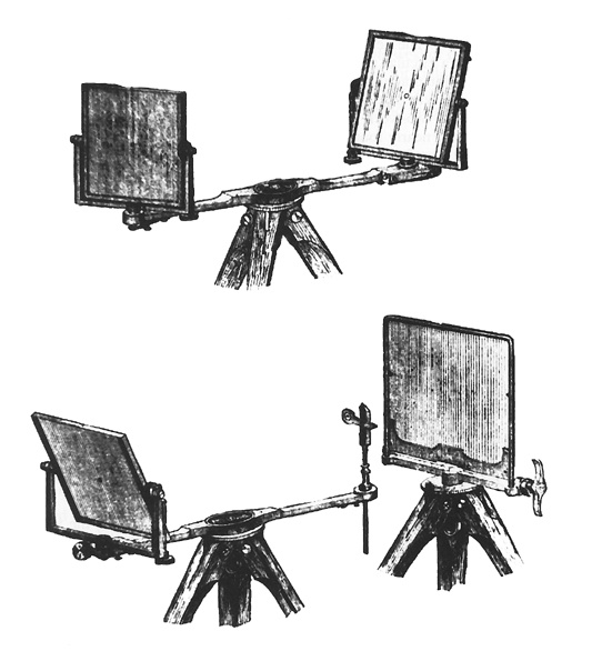 Drawings of U.S. Signal Service Heliograph, 1888. Image via Wikimedia Commons.