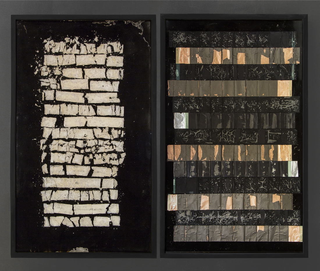Alejandra Preito, Li-Ion., 2017; Lithium, copper, aluminum, iron, plastic, wood, resin, 200 x 120 x 6 cm. Courtesy of Gallery Die Ecke.