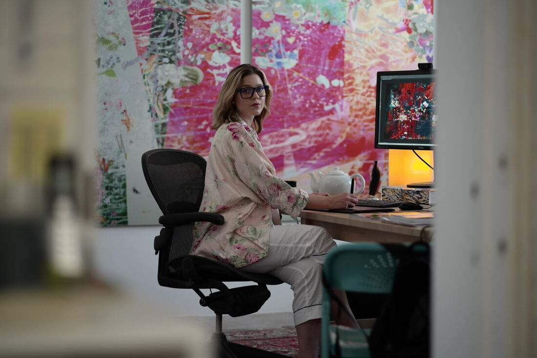 Portrait of Petra Cortright by Stefan Simchowitz, 2016. Image courtesy of Petra Cortright Studio.