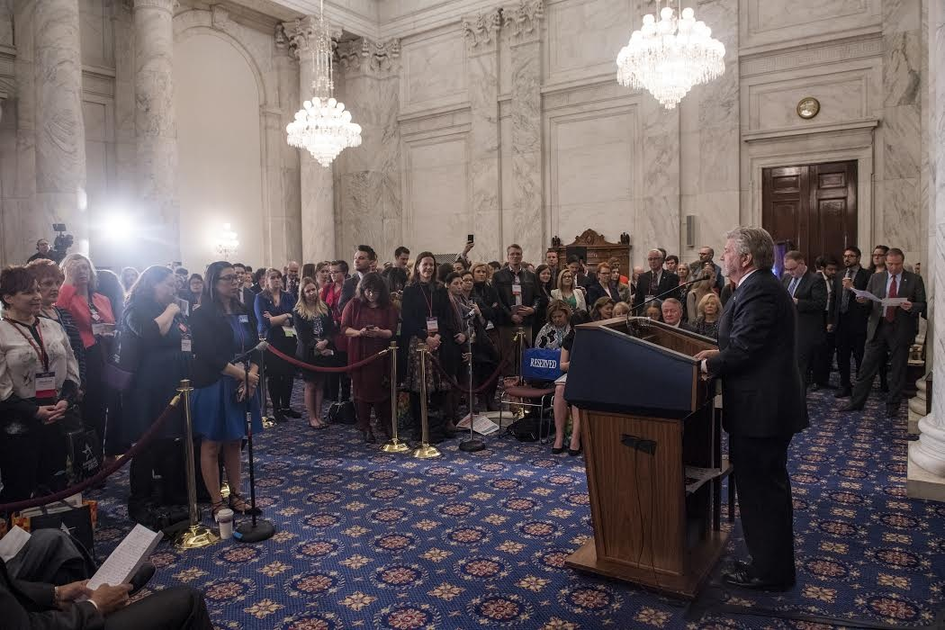 Americans for the Arts President and CEO Bob Lynch addressing the Congressional Arts Kickoff last week. Photo courtesy of Maria Bryk/Americans for the Arts.