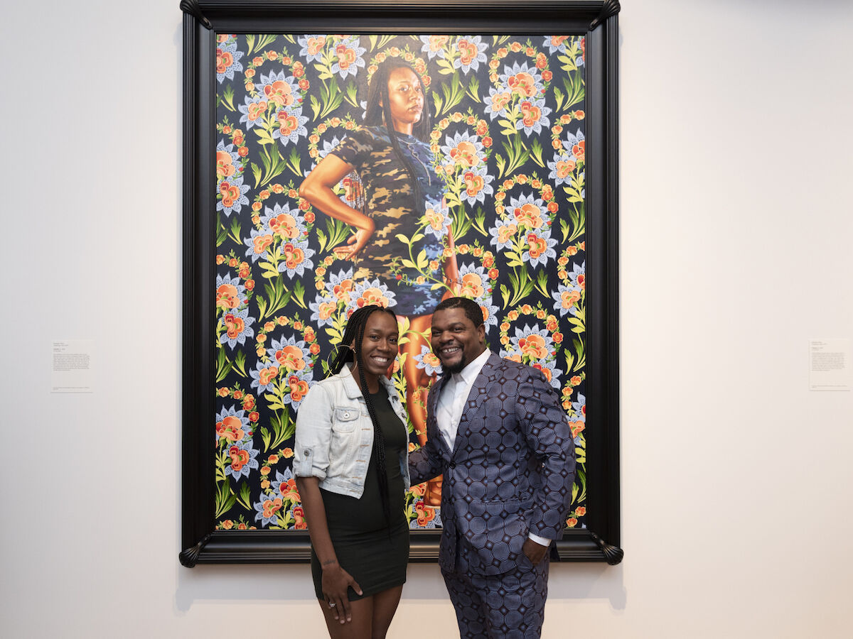 Ashley Cooper and Kehinde Wiley. Courtesy the Saint Louis Art Museum.