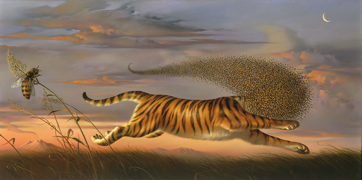 Vladimir Kush, Beeing a Tiger, 2007. © Kush Fine Arts Limited 2019. Courtesy of the artist.
