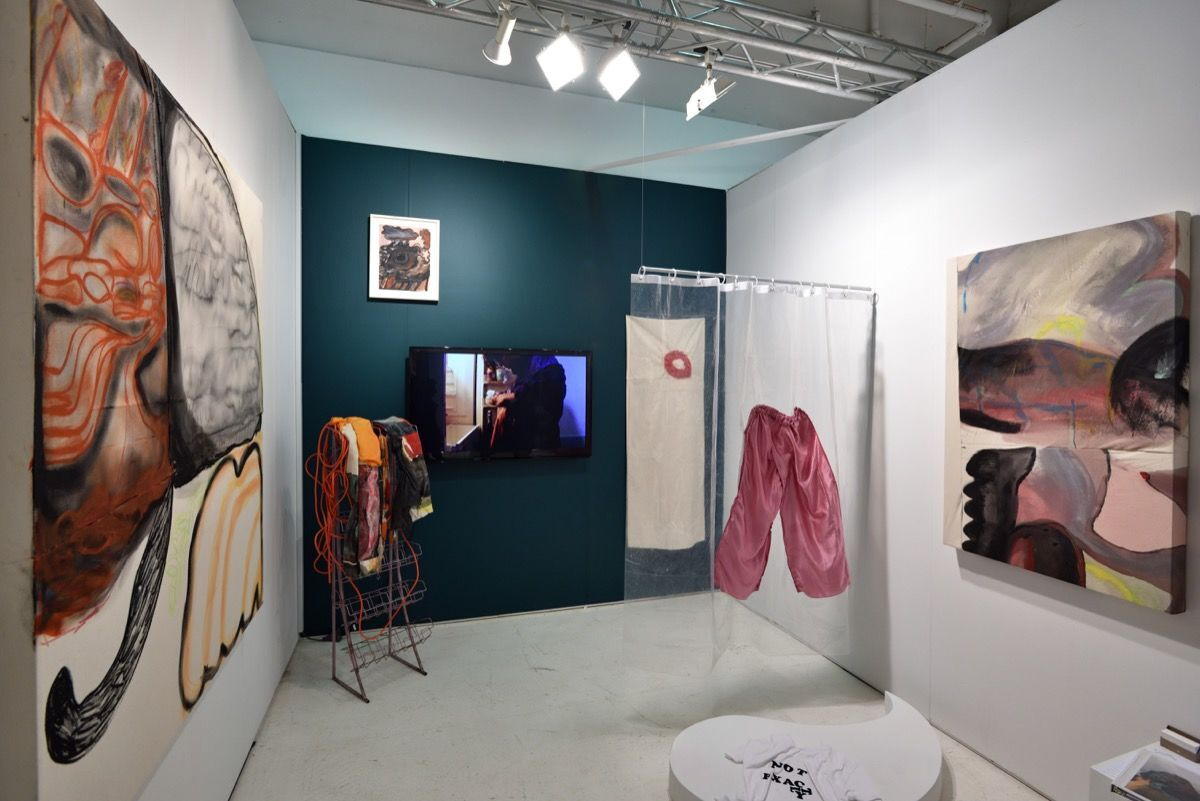 Installation view of September Gallery's booth at NADA New York, 2018. Photo by Stephen Smith. Courtesy of NADA.