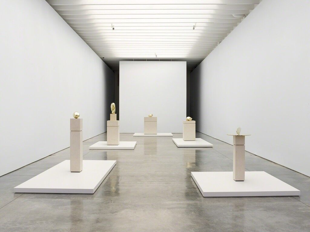 "Installation view of ""Brancusi in New York, 1913-2013,"" at Paul Kasmin Gallery, 2013. Courtesy of Paul Kasmin Gallery."
