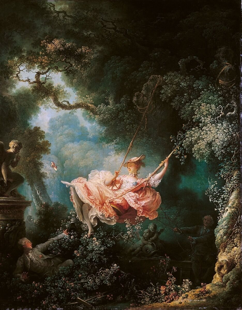 Jean-Honoré Fragonard, The Swing, 1767-68. Photo via Wikimedia Commons.