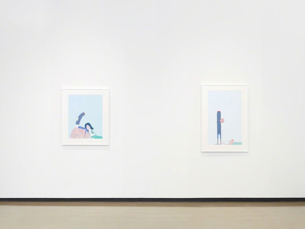 "Installation view of ""Laylah Ali: The Acephalous Series"" at Paul Kasmin Gallery, New York. Courtesy Paul Kasmin Gallery and the artist."