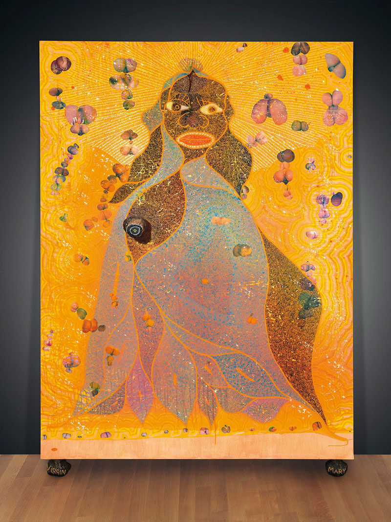 Chris Ofili, The Holy Virgin Mary (1996). Courtesy Christie's.