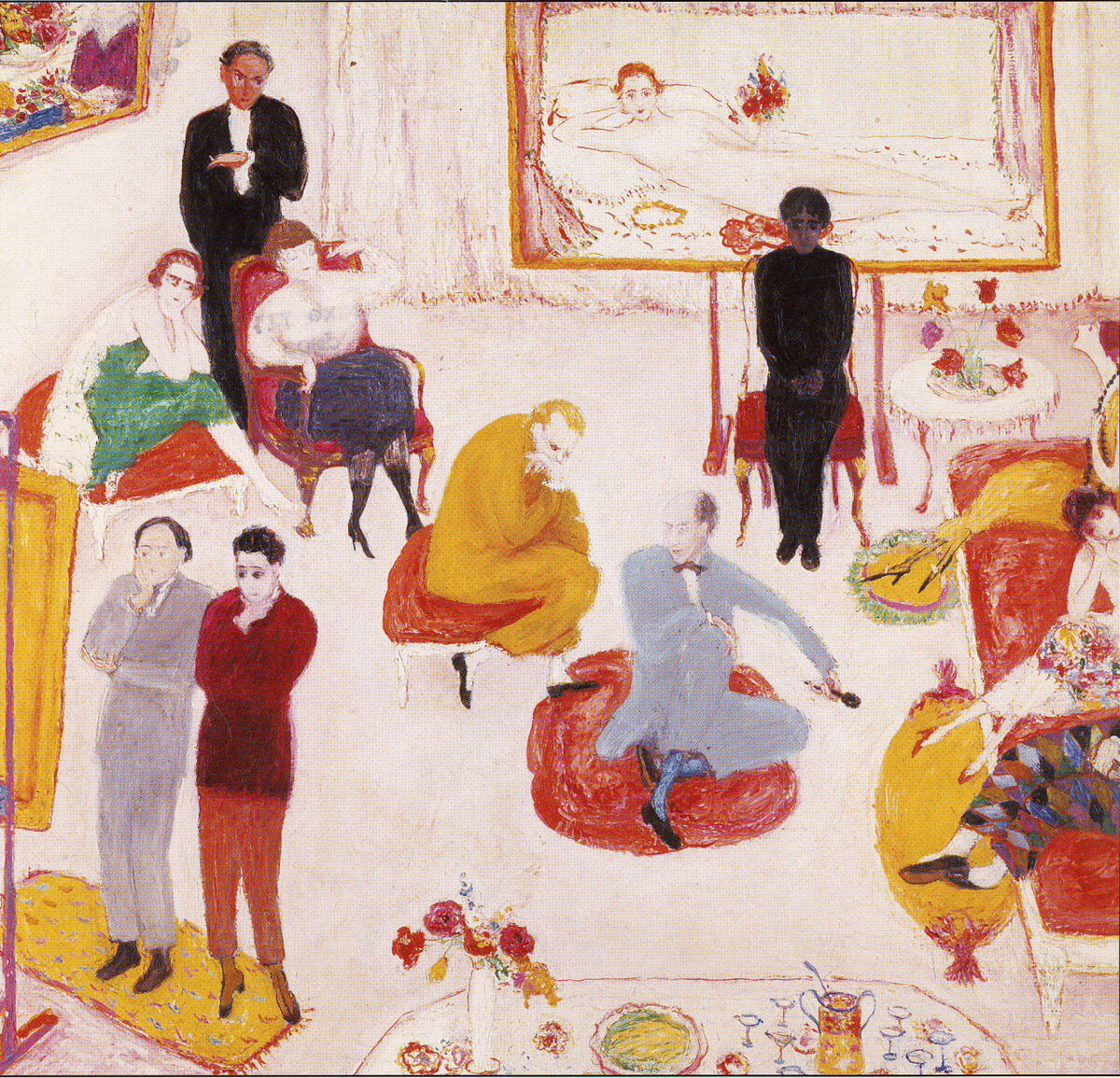 Florine Stettheimer, Soireé, ca. 1917 Yale Collection of American Literature, Beinecke Rare Book and Manuscript Library, Florine and Ettie Stettheimer Papers.