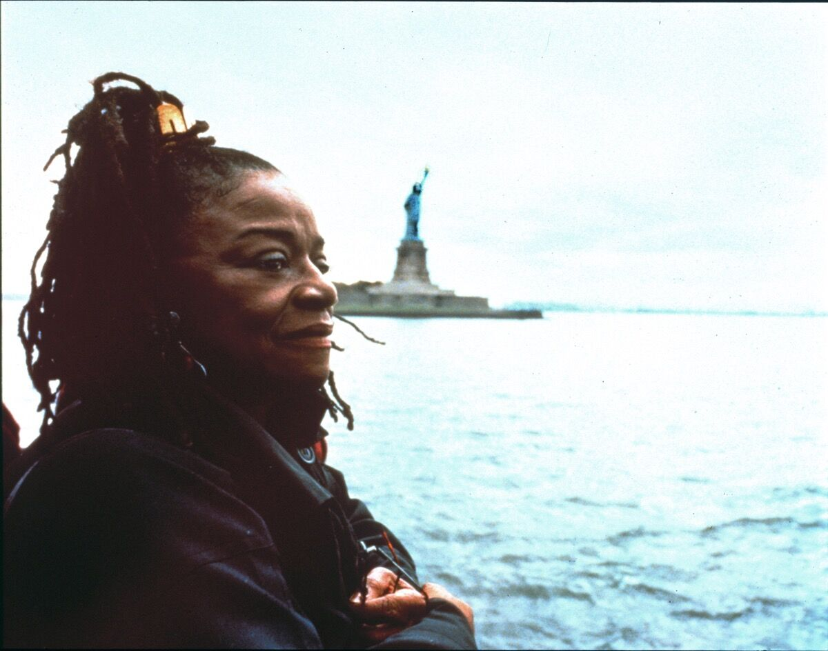 Portrait of Faith Ringgold. Photo by Grace Matthews.