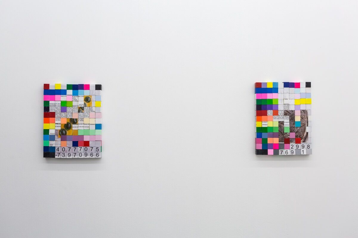 "Installation view of ""Freecaching"", courtesy of Tomorrow Gallery."