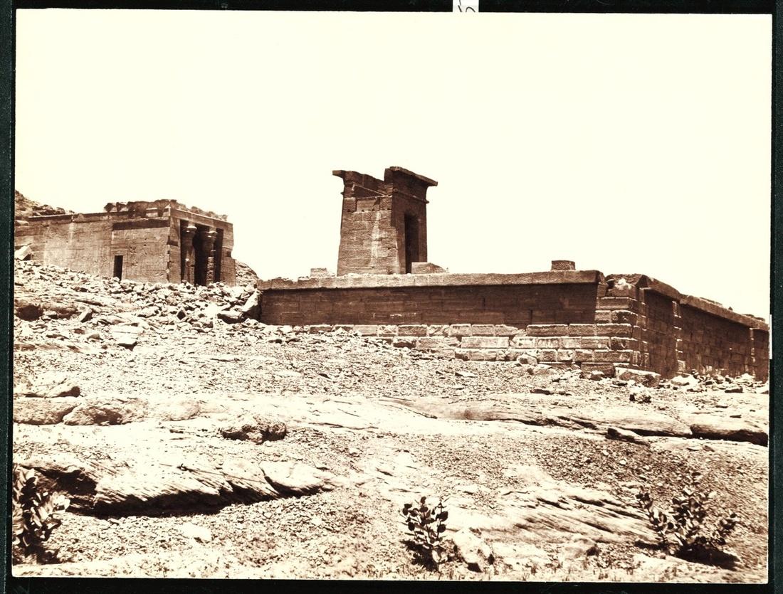 The Temple of Dendur in situ, ca. 1865–1885. Photo by Antonio Beato. Courtesy of the Metropolitan Museum of Art.