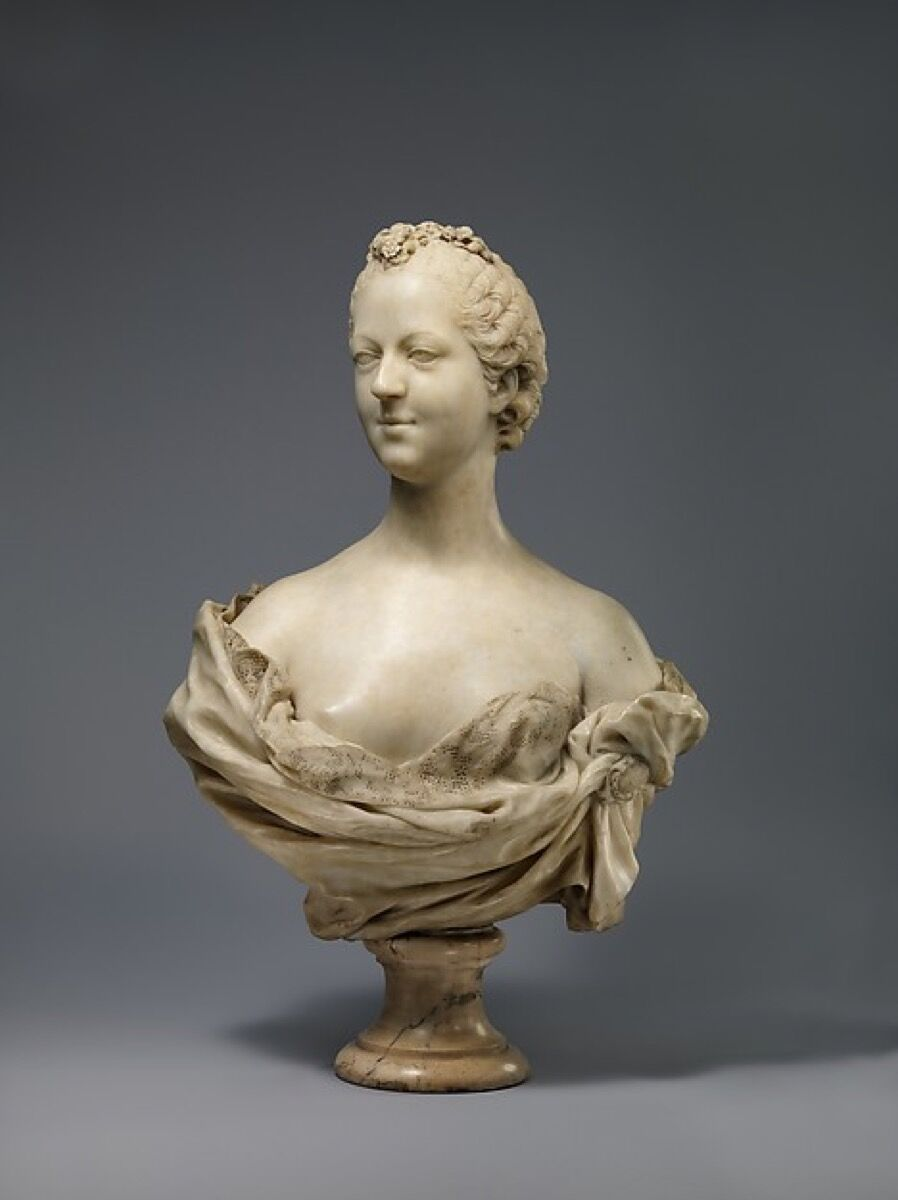 Jean-Baptiste Pigalle, Madame de Pompadour, 1748-51. Courtesy of the Met.