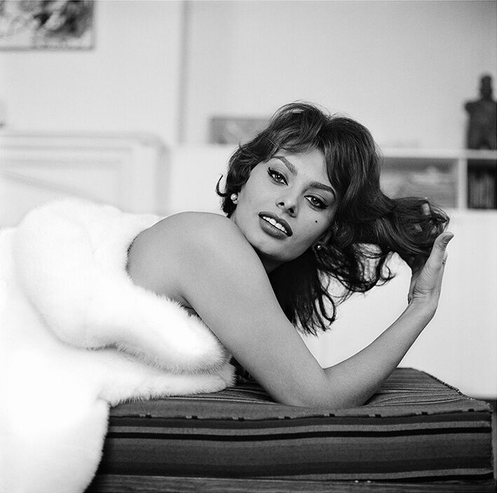 Tony Vaccaro, Sophia Loren, Actress, New York City, NY, 1959. Courtesy Tony Vaccaro Studio/Monroe Gallery.