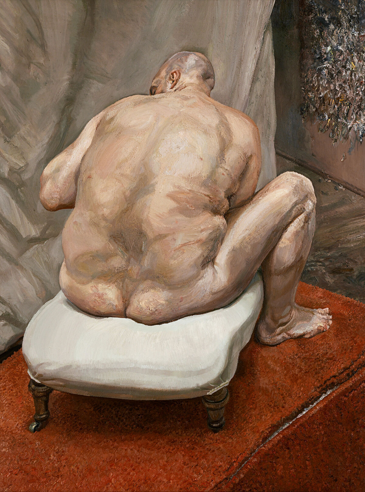 Lucian Freud, Naked Man, Back View, 1991–92. Courtesy of The Metropolitan Museum of Art and Acquavella Galleries.