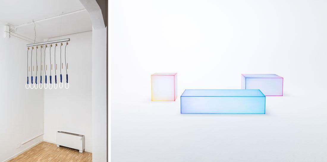 Alberto Biagetti and Laura Baldassari,Body Building.Photo by Delfino Sisto Legnani and Marco Cappelletti;Soft,Nendo for Glas Italia.
