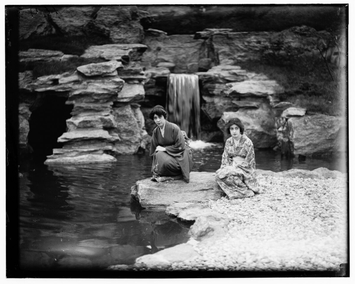 Japanese Hill-and-Pond Garden. Photo by Louis Buhle. C. 1915. © Brooklyn Botanic Garden. Courtesy of Brooklyn Botanic Garden.