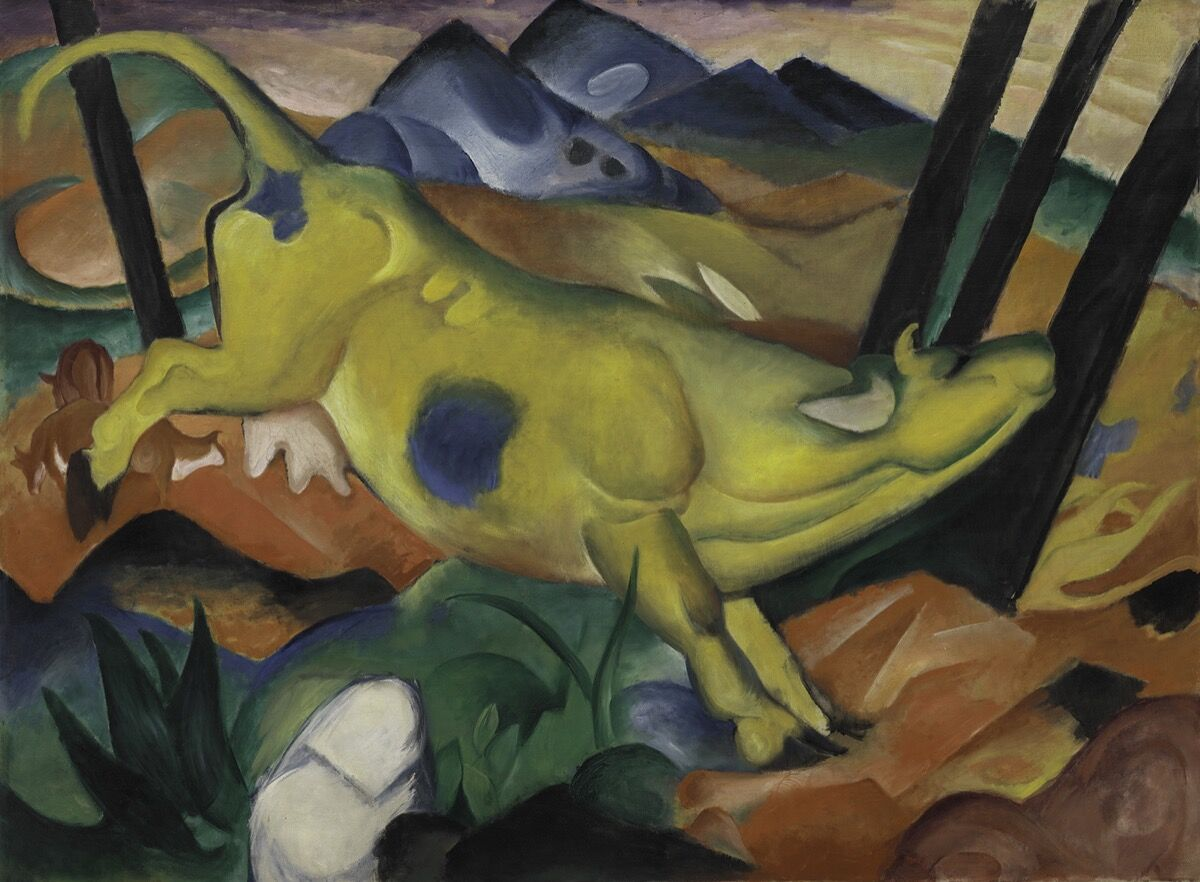 Franz Marc, The Yellow Cow, 1911. Courtesy of the Solomon R. Guggenheim Museum, New York.
