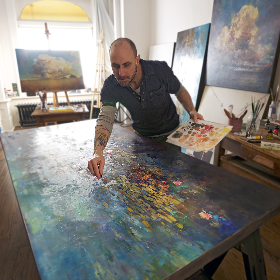 Stev'nn Hall in his studio. Courtesy DTR Modern Galleries and the artist.