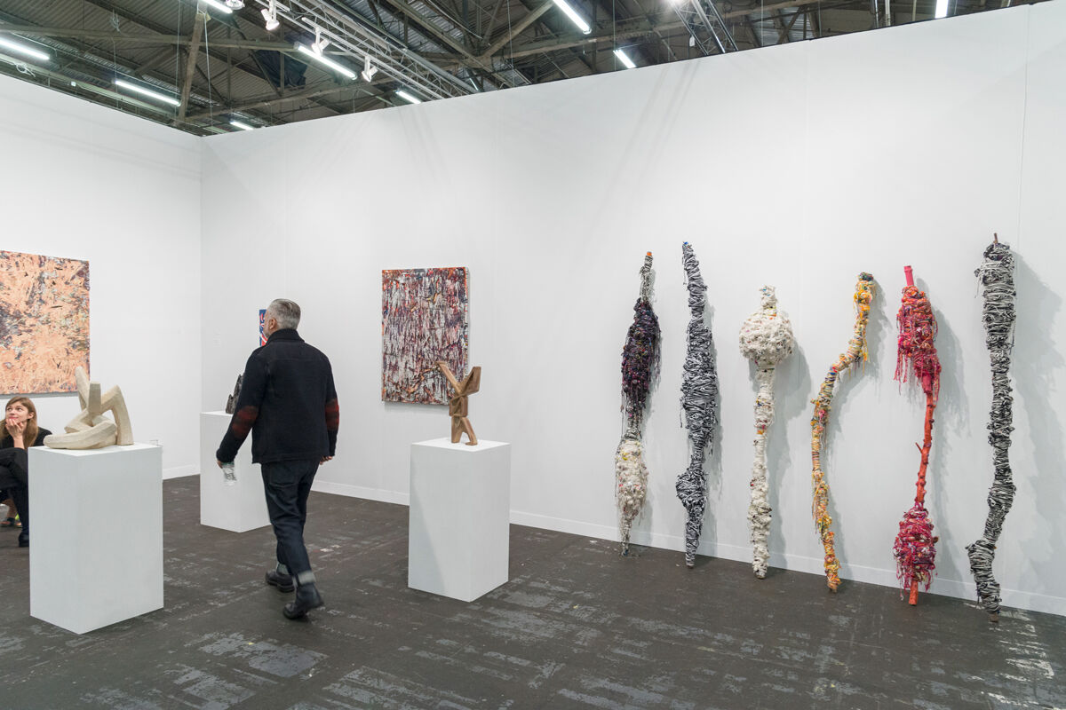 Installation view of Galerie Sultana's booth at The Armory Show, 2017. Photo by Adam Reich for Artsy.