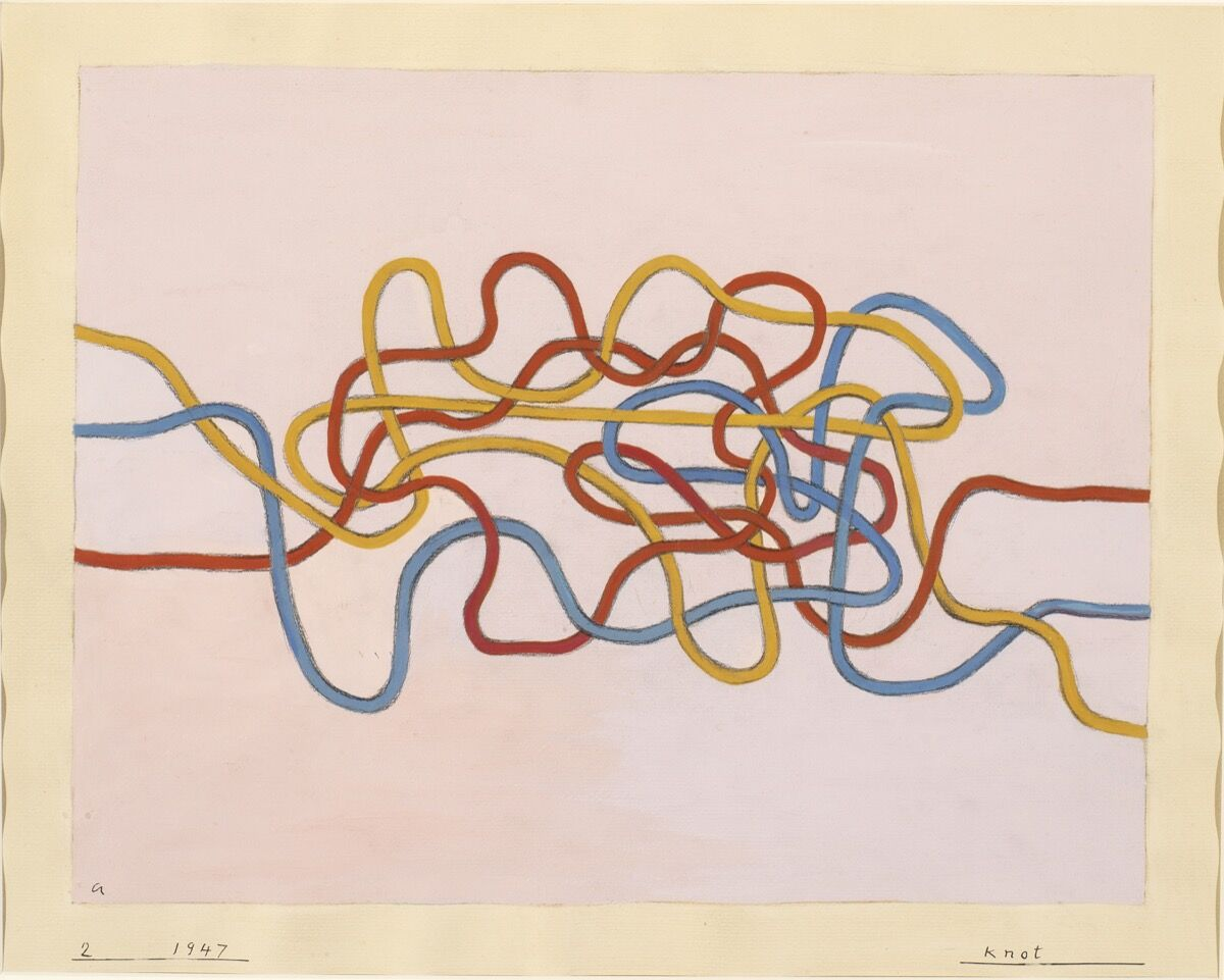 Anni Albers, Knot, 1947. © 2017 The Josef and Anni Albers Foundation / Artists Rights Society (ARS), New York. Courtesy of Guggenheim Museum Bilbao.