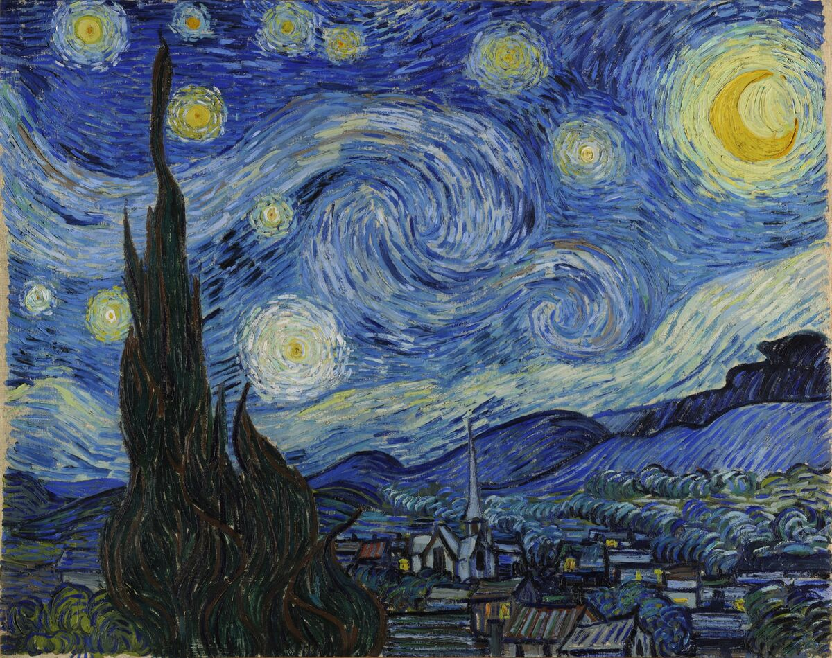 Vincent van Gogh, The Starry Night, 1889. Photo via Wikimedia Commons.