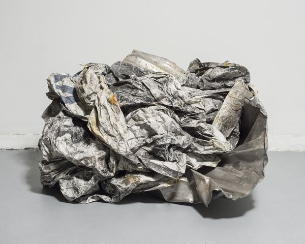 Kennedy Yanko, Charcoal and Paper, 2017, Metal, paper, 48 x 36 x 24 in