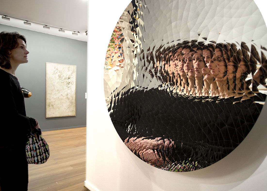 Anish Kapoor at Kukje Gallery – TEFAF 2015. Photo: Harry Heuts.