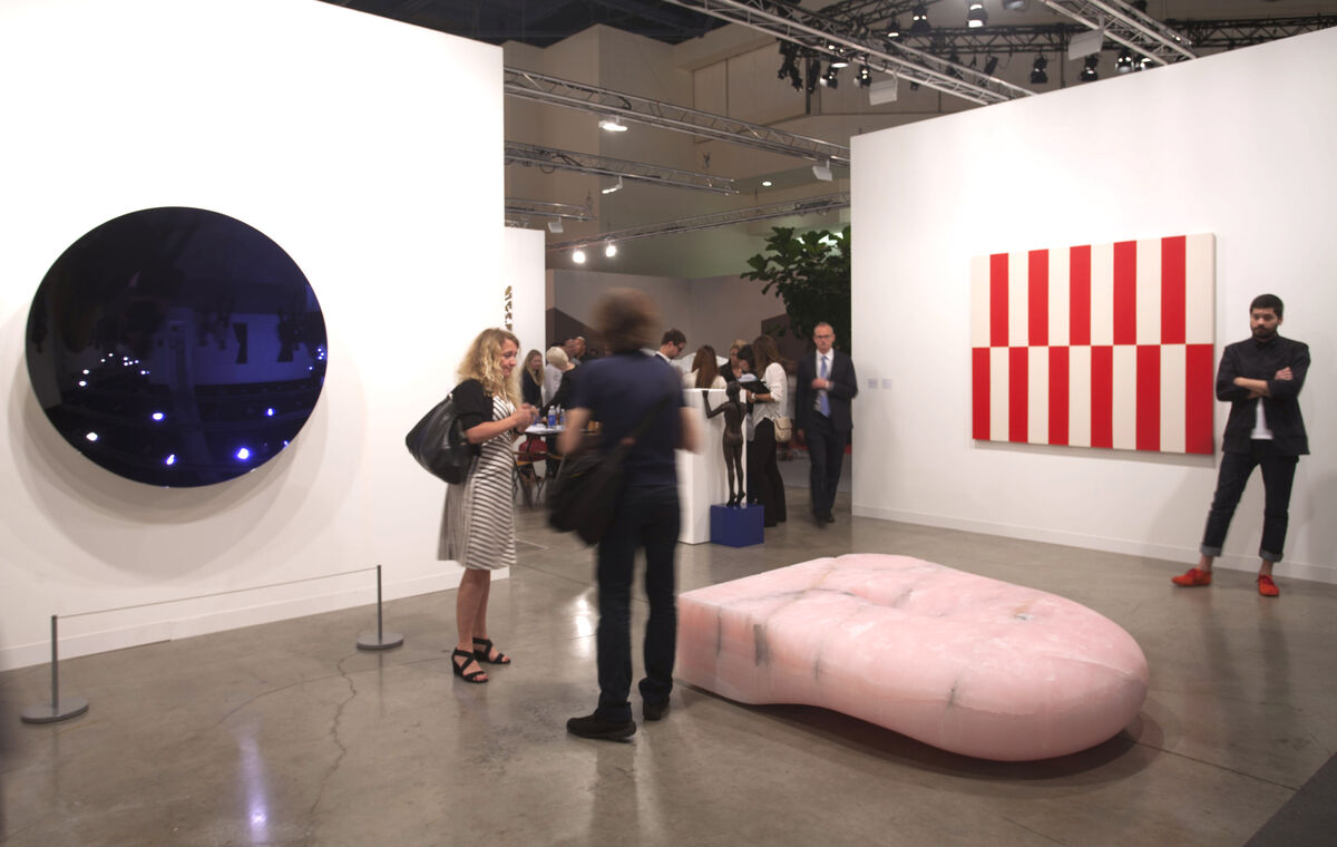 Installation view of Lisson Gallery's booth at Art Basel in Miami Beach, 2015. Photo by Oriol Tarridas for Artsy.