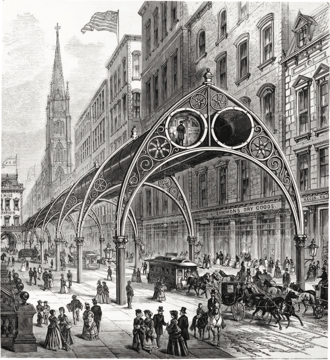 Rufus Henry Gilbert, Gilbert's Elevated Railway, 1870. Courtesy of ARTBOOK | D.A.P.