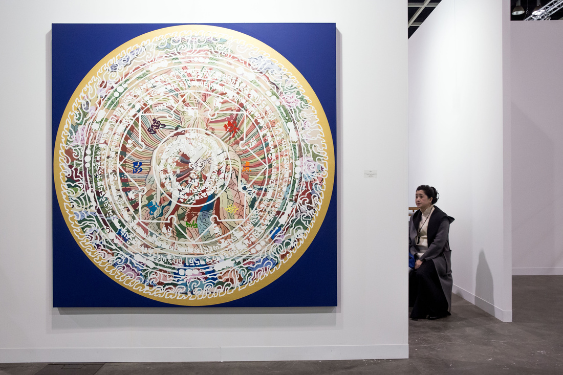 Installation view of Vitamin's booth at Art Basel in Hong Kong, 2016. Courtesy of the fair.