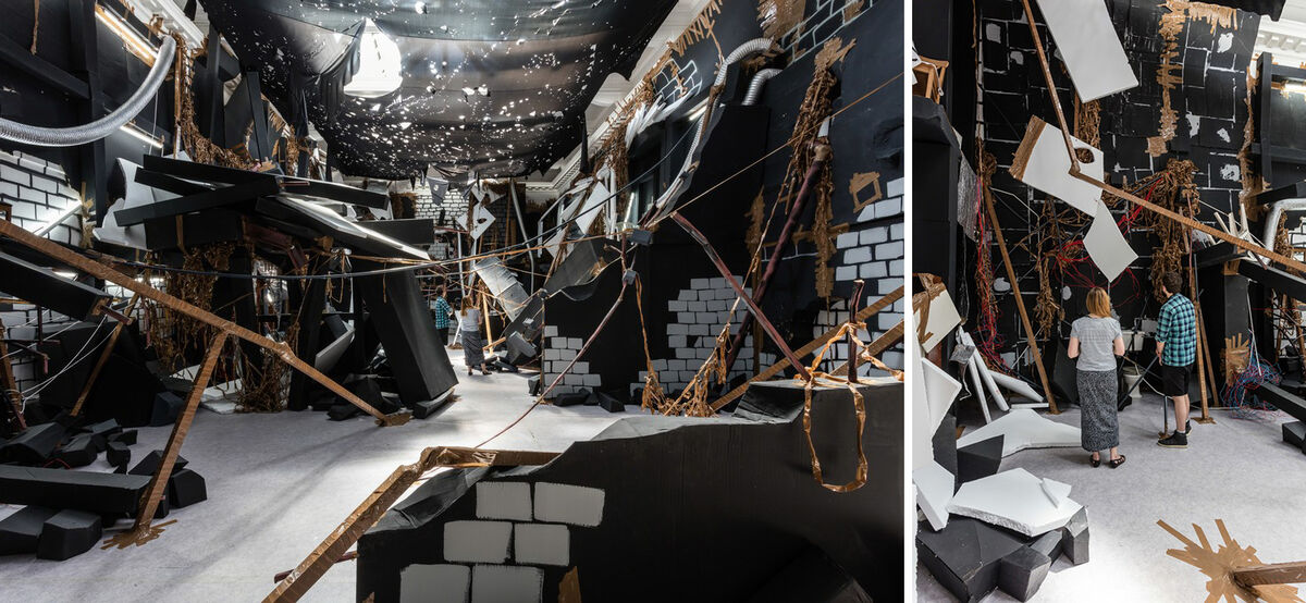 Thomas Hirschhorn, In-Between, installation view at the South London Gallery.