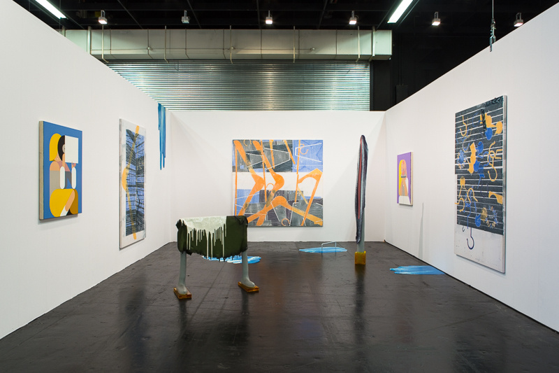 Installation view of DUVE's booth at Art Cologne, 2016. Photo by Maria Litwa, courtesy of the artists and DUVE Berlin.