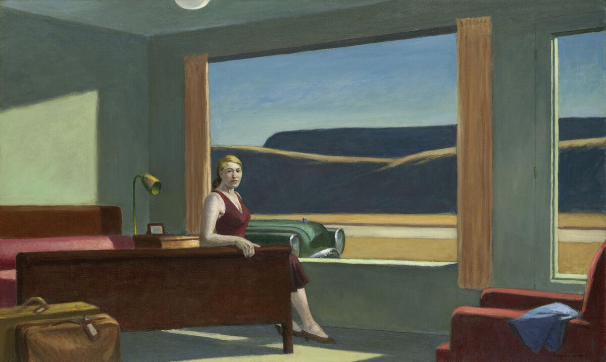 Edward Hopper, Western Motel, 1957. © Edward Hopper. Courtesy of Yale University Art Gallery.