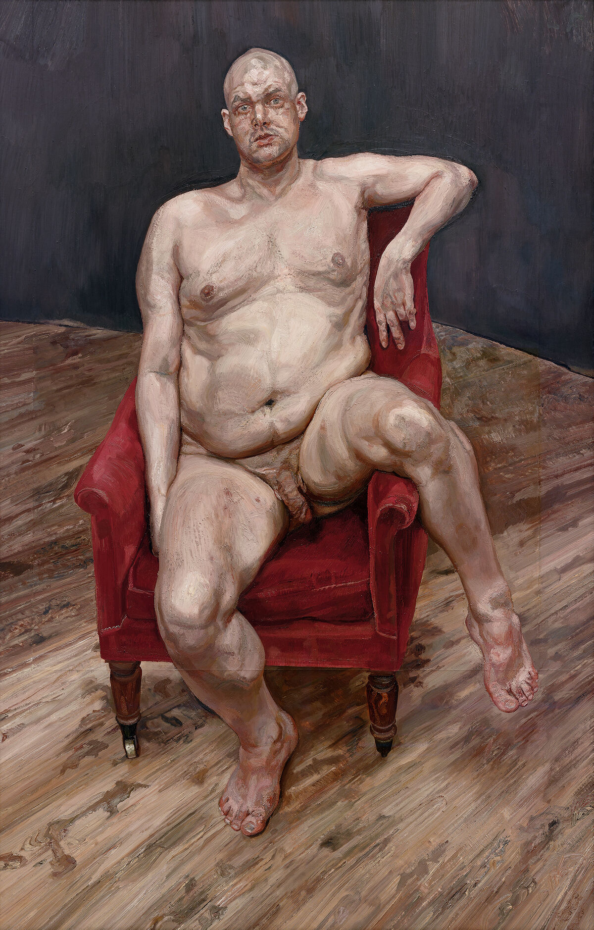Lucian Freud, Leigh Bowery (Seated), 1990. Courtesy of Acquavella Galleries.