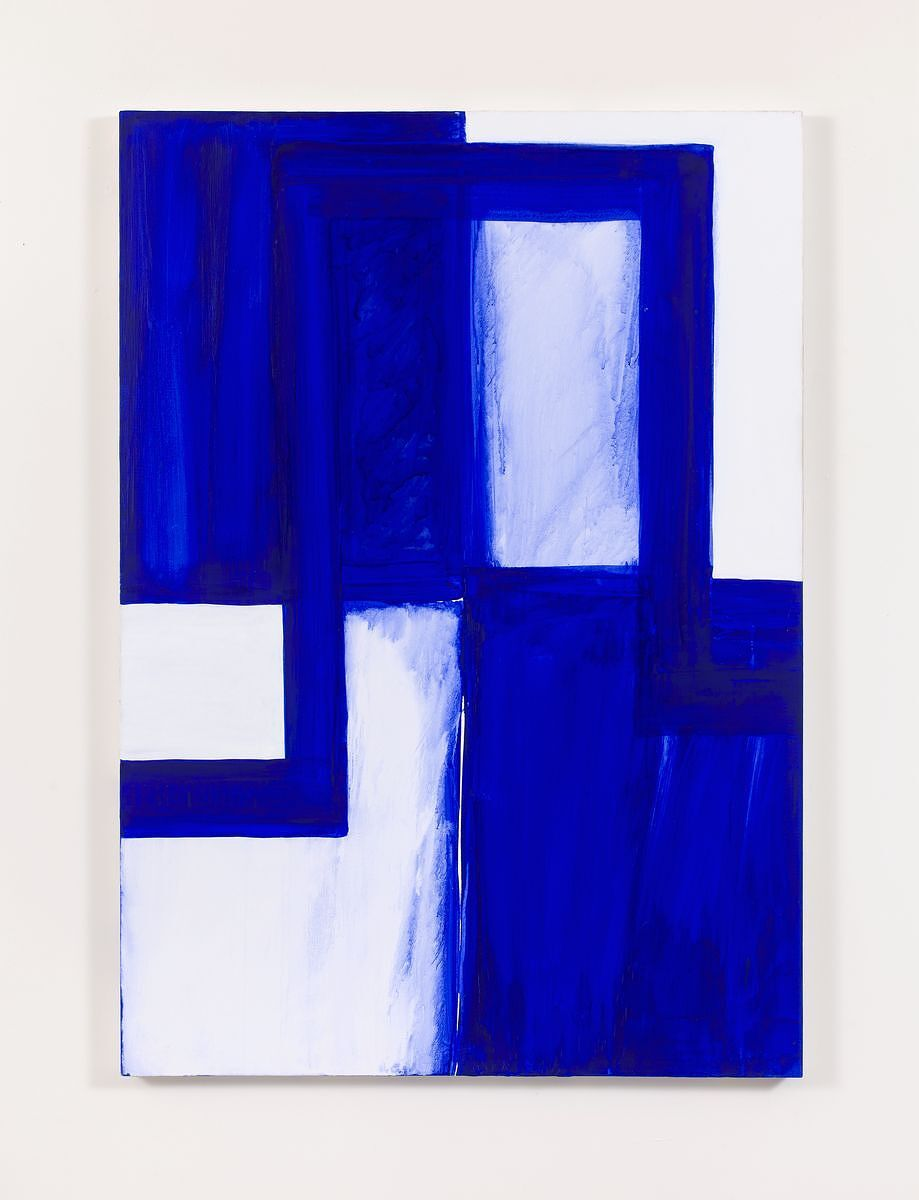 Heilmann returned to this theme in a work on canvas in 1986.