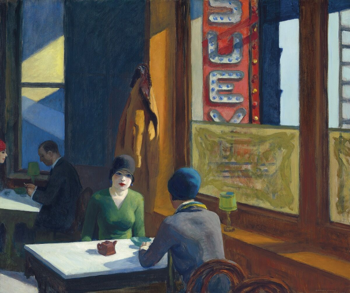 Edward Hopper, Chop Suey, 1929. Courtesy of Christie's.