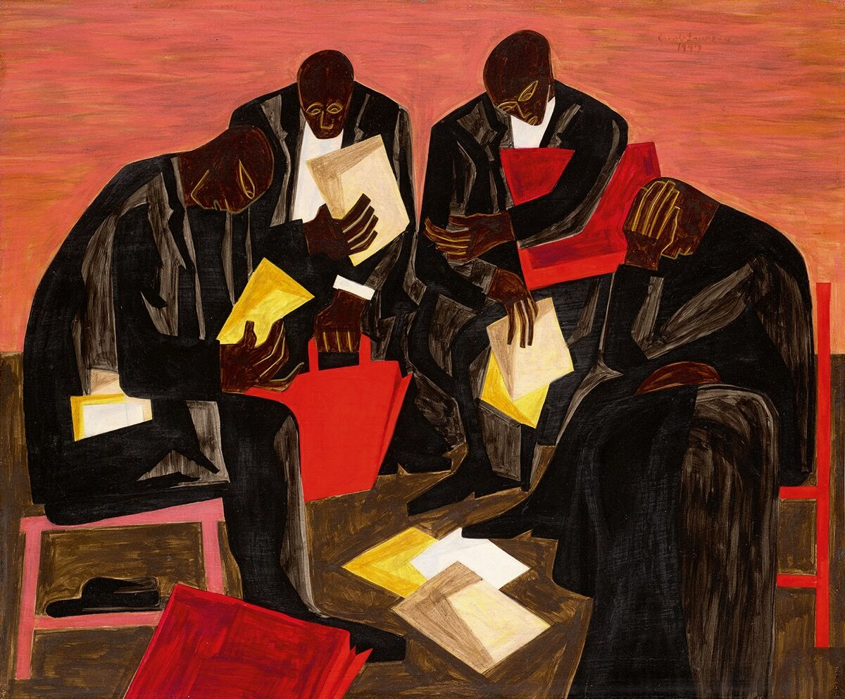Jacob Lawrence, The Businessmen, 1947. Courtesy of Sotheby's.